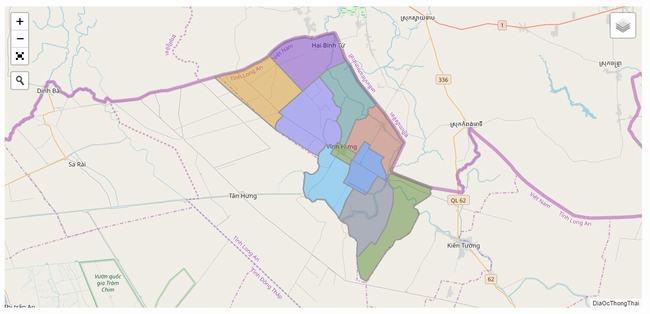 Bản đồ huyện Vĩnh Hưng -Tỉnh Long An