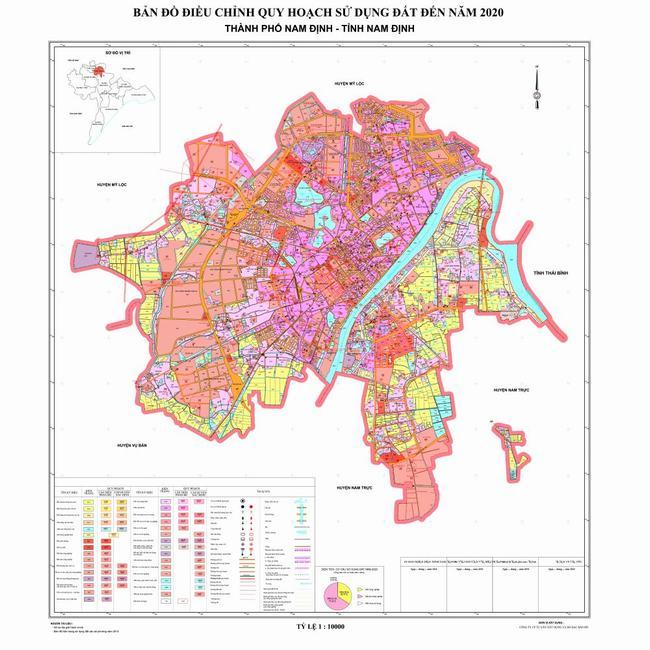 Bản đồ điều chỉnh quy hoạch đất tỉnh Nam Định