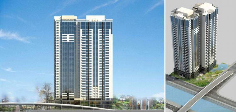 Phối cảnh tổng quan dự án căn hộ D-Aqua Quận 8