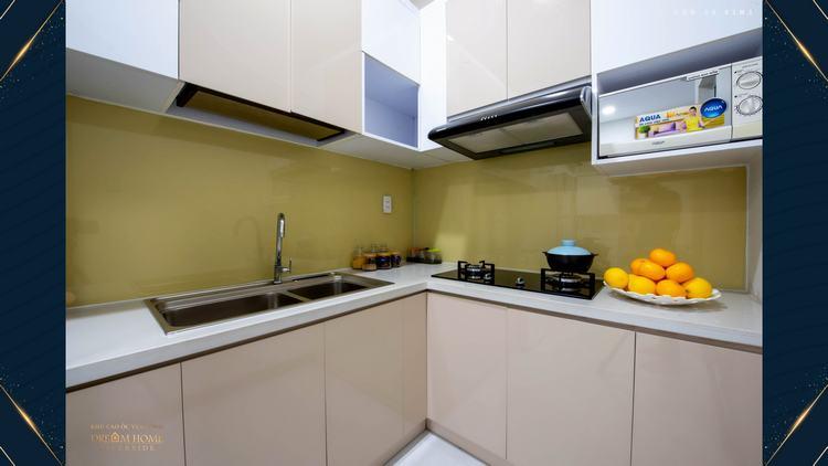 Thiết kế bếp căn hộ mẫu dự án Dream Home Riverside Quận 8