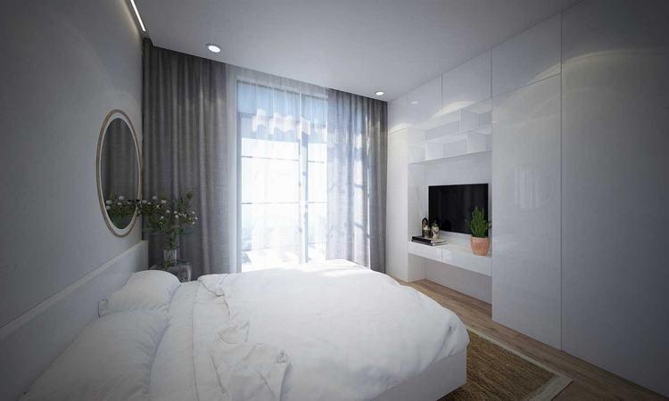 Phối cảnh phòng ngủ căn hộ tại dự án King Crown Infinity Thủ Đức