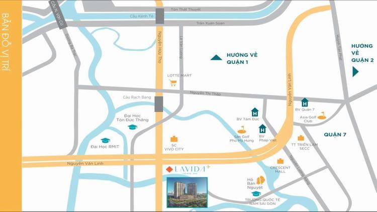 Vị trí dự án Lavida Plus Quận 7