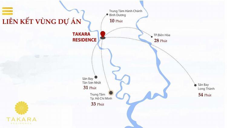 Khả năng liên kết dự án Takara Residence Bình Dương