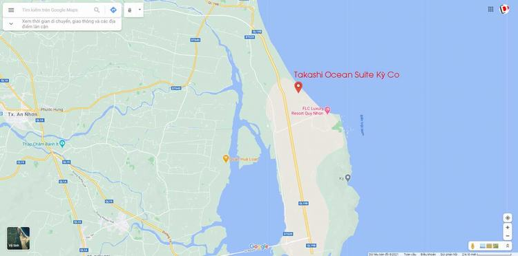 Bản đồ Vị trí Căn hộ Takashi Ocean Suite Kỳ Co