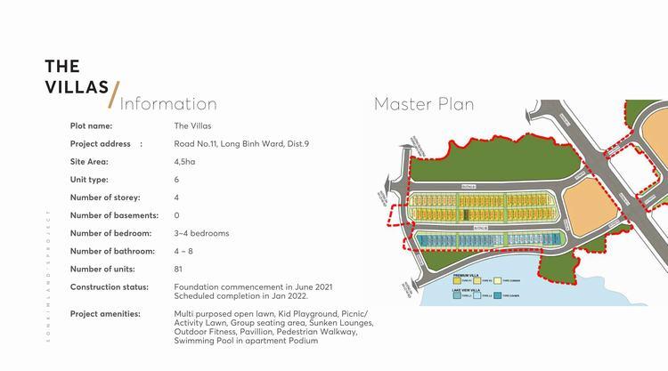 Mặt bằng tổng thể phân khu The Villas (Biệt Thự) dự án The 9 Stellars Quận 9