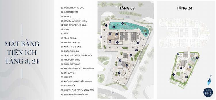 Mặt bằng tiện ích tầng 3, 24 dự án The Aston Nha Trang